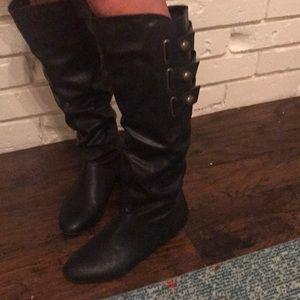 Women's Madden Girl Knee High wedge Boots, Sz 8✨💕